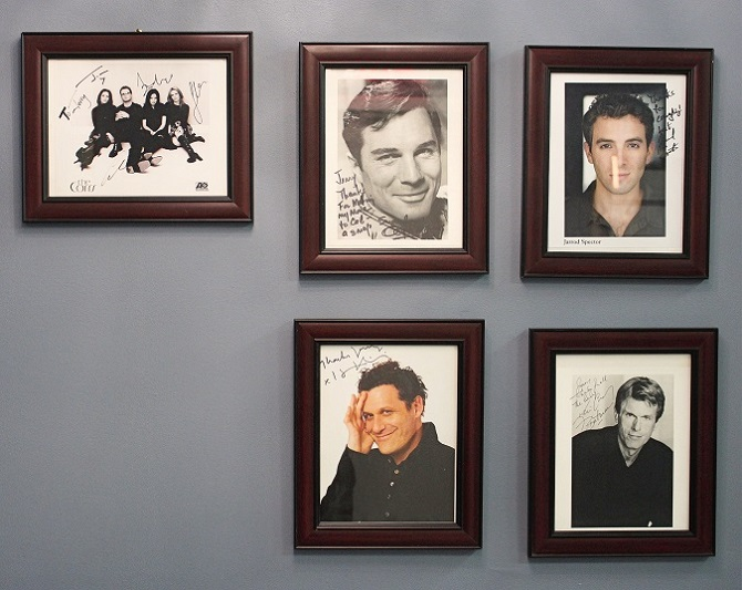 Past clients include The Corrs, George Maharis, Jarrod Spector, Isaac Mizrahi, and Kevin Conroy