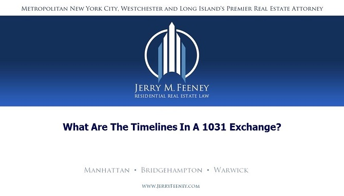 What Are The Timelines In a 1031 Exchange?